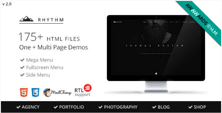 Rhythm - Multipurpose OneMulti Page Template