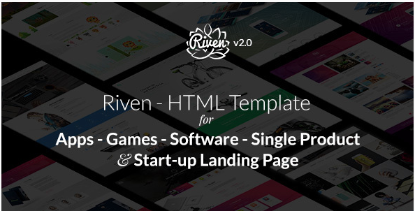 Riven - HTML Template for for App, Game, Single Product Landing Page