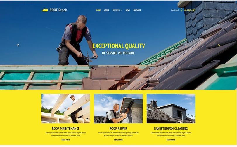 Roof Repair Website Template