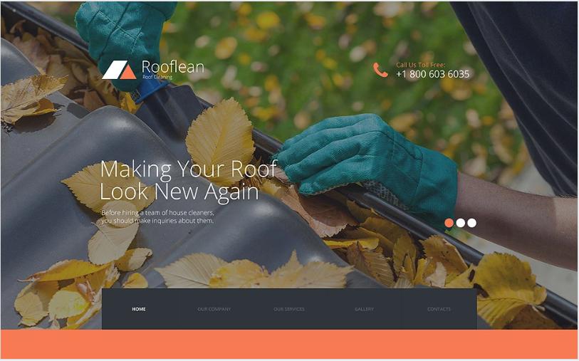 Rooflean Website Template