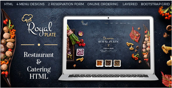 Royal Plate - Restaurant and Catering HTML Template