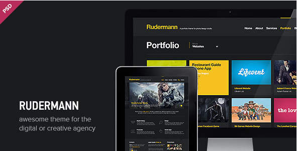 Rudermann - Agency Business PSD Template