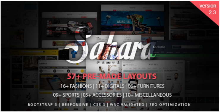 SAHARA - Responsive Magento Themes