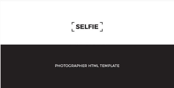 SELFIE Personal Photographer HTML Template