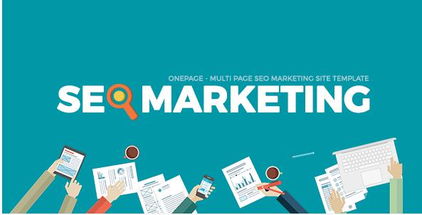 SEOMarkt Responsive Flat SEO Marketing Onepage Multipage Site Template