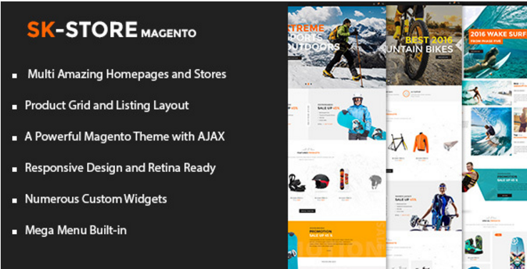 SK Store – Unique Magento Theme for Sport Stores