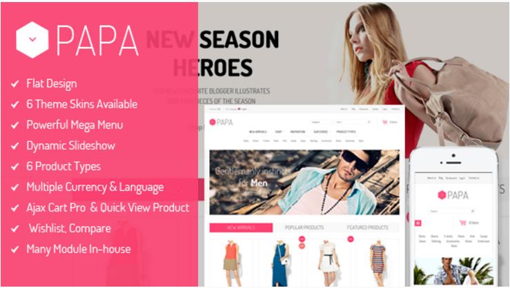 SM Papa - Responsive Fashion Theme for Magento