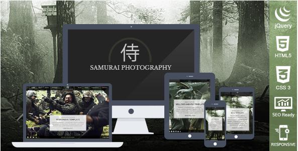 Samurai Photography HTML Template