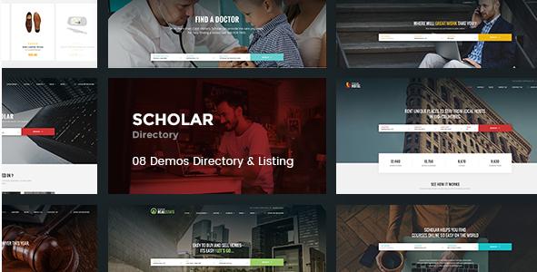 Scholar - Directory Multipurpose PSD Template