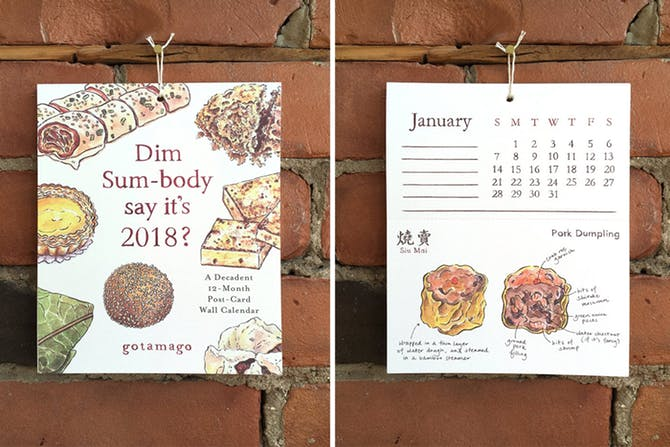 Seasonal Food Illustrated Calendar 2018
