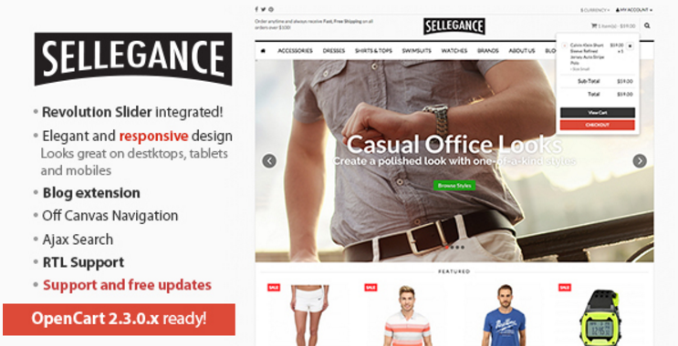 Sellegance - Responsive and Clean OpenCart Theme
