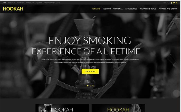 Selling Hookah OpenCart Template