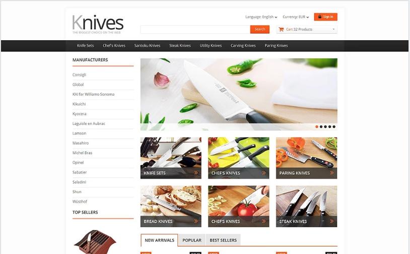 Selling Knives PrestaShop Theme