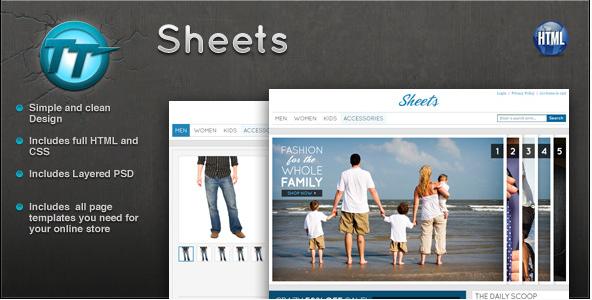 Sheets eCommerce HTML