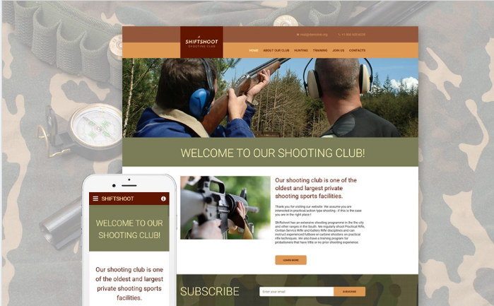 Shiftshoot Website Template