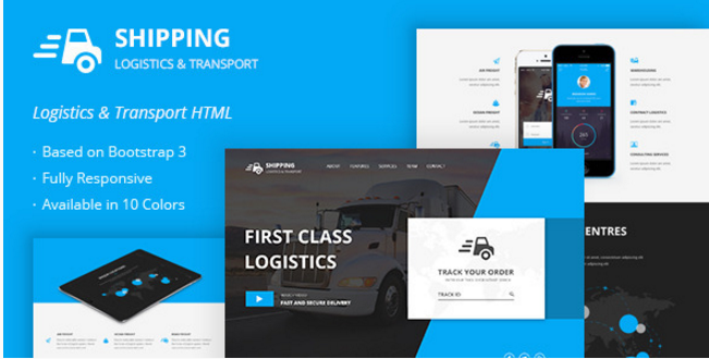 Shipping - Logistics & Transport HTML Template