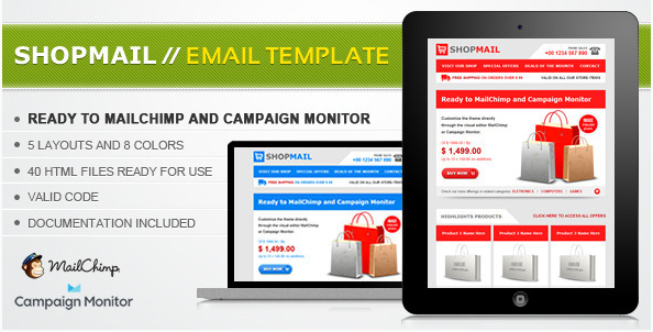 Shop Mail - HTML Email Template