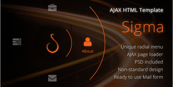 Sigma Creative AJAX HTML Template
