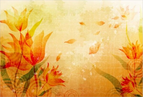 Simple-Fall-Flower-Background