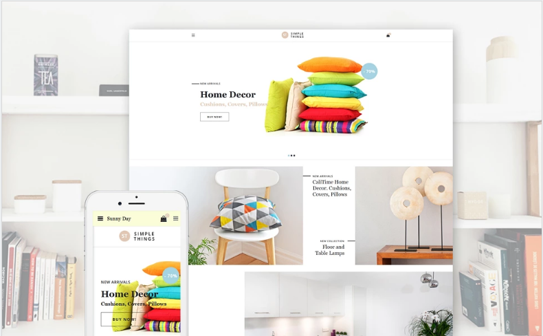 Simple Things - Home Decor OpenCart Template + RTL