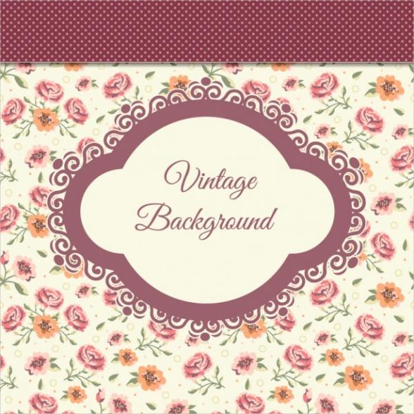 Simple-Vintage-Flower-Backgrounds