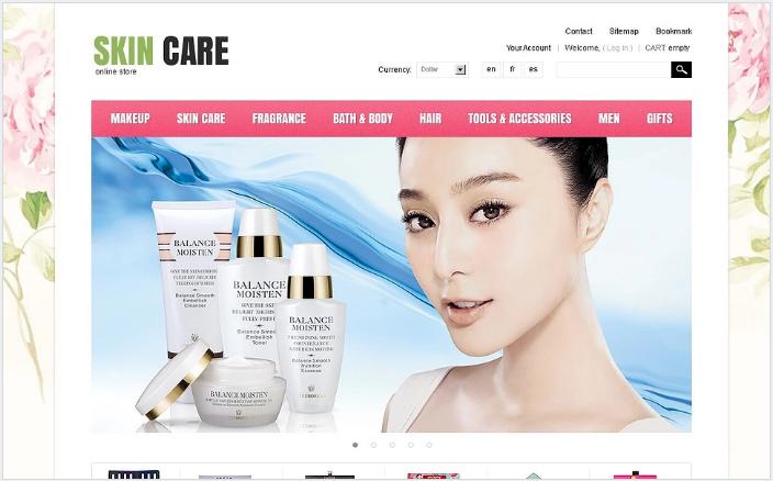 Skin Care PrestaShop Theme
