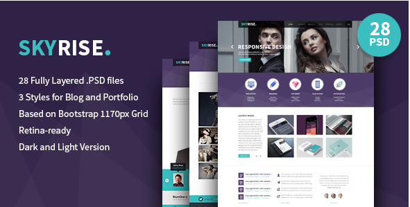 Skyrise - Business PSD Template