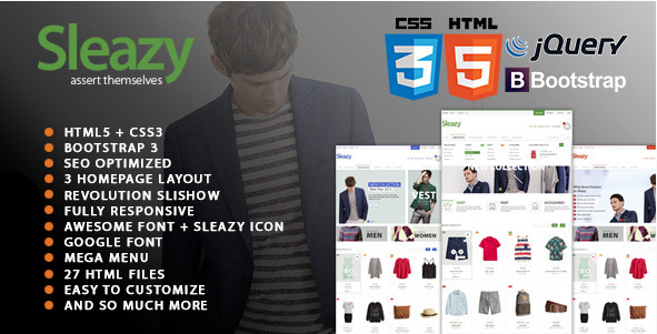 Sleazy - SEO Responsive HTML Fashion Template