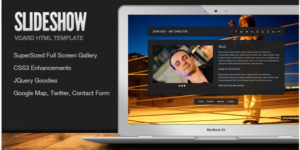 SlideShow - Stylish Online vCard Html Template