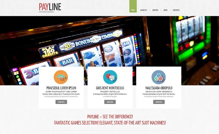 Slot Machines Responsive Website Template