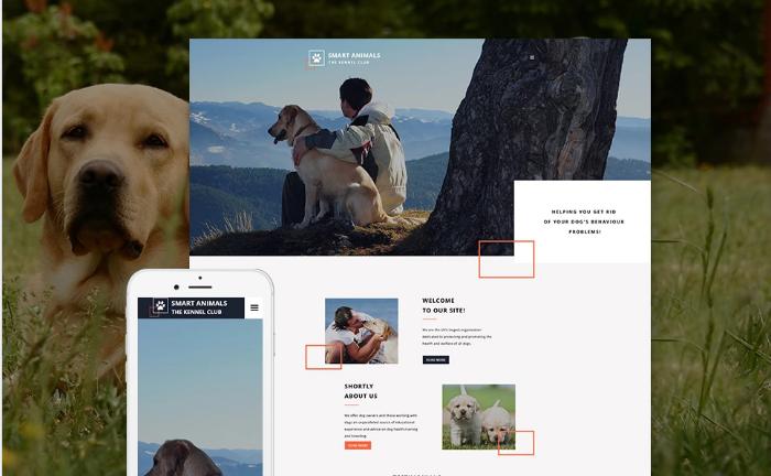 Smart Animals Website Template