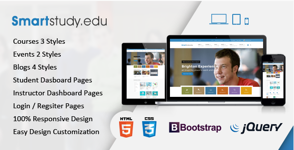 SmartStudy – Responsive Education HTML Template