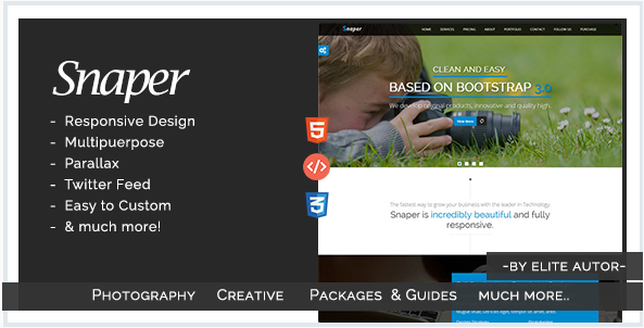 Snaper - Photography and Creative Template