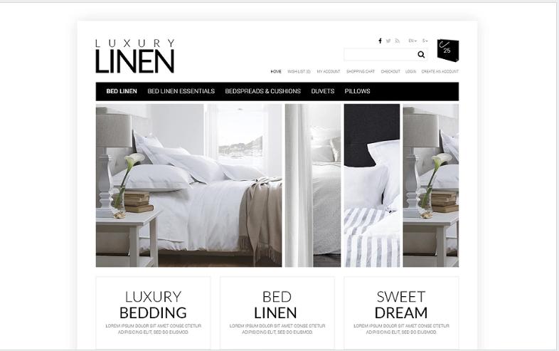 Soft, Luxury Linen OpenCart Template