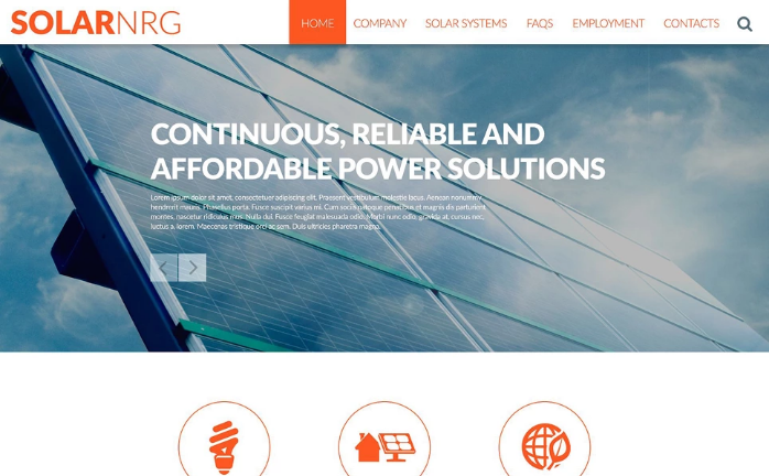 Solar Energy Conversion Website Template