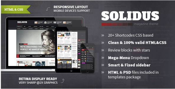 Solidus - Clean Magazine HTML Template