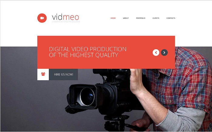 Solutions for Video Studio Website Template