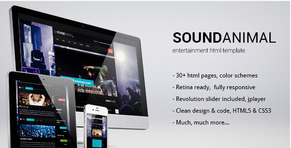 Sound Animal - Entertainment HTML Template