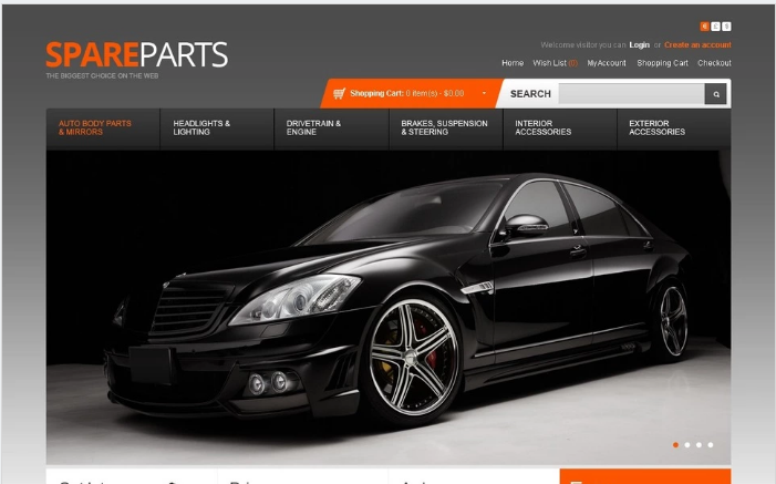 Spare Parts OpenCart Template