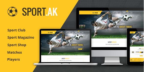 Sport WordPress Theme for Football, Hockey, Basketball Club - SportAK