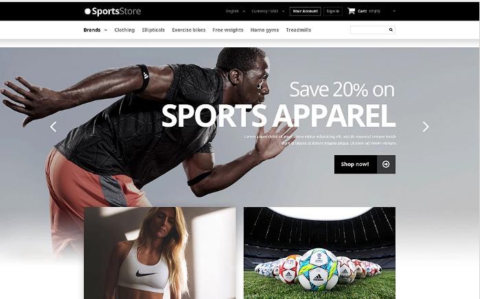 Sports Clothes Equipment PrestaShop Theme
