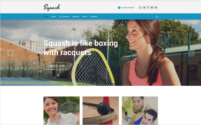 Squash Website Template