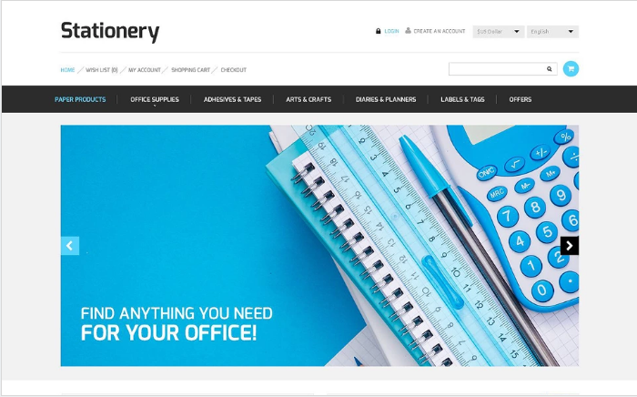 Stationery Store OpenCart Template