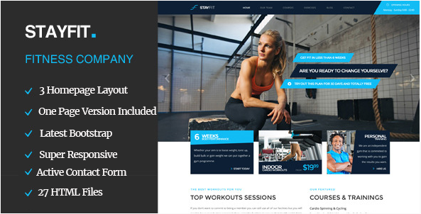 Stayfit Sports, Health, Gym & Fitness HTML Template