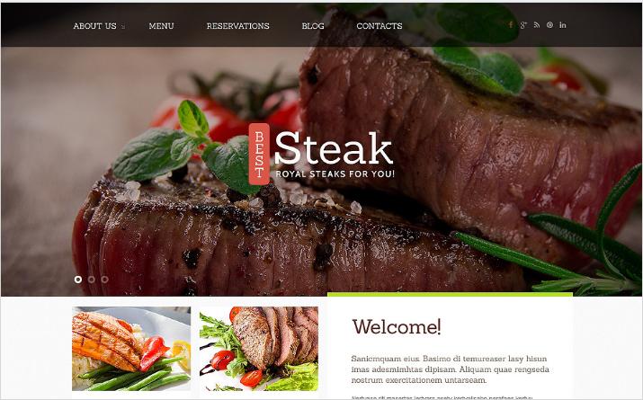 Steakhouse Responsive Joomla Template