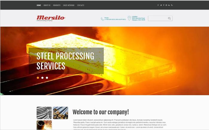 Steel Processing Website Template