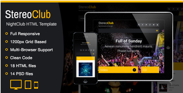 StereoClub / NightClub HTML Template