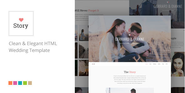 Story - Responsive HTML Wedding Template