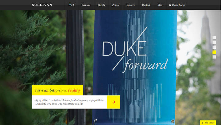 Great Parallax Scrolling Website Examples