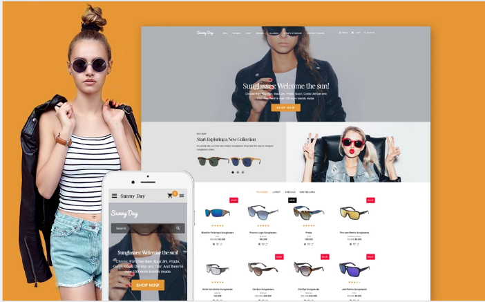 Sunny Day - Responsive OpenCart template + RTL